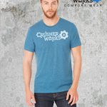 Crusher Works T Shirt Steel Blue