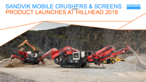 Sandvik to reveal new product launches at Hillhead 2018